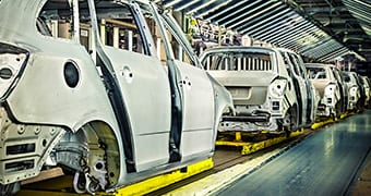 Automotive body in white assembly line