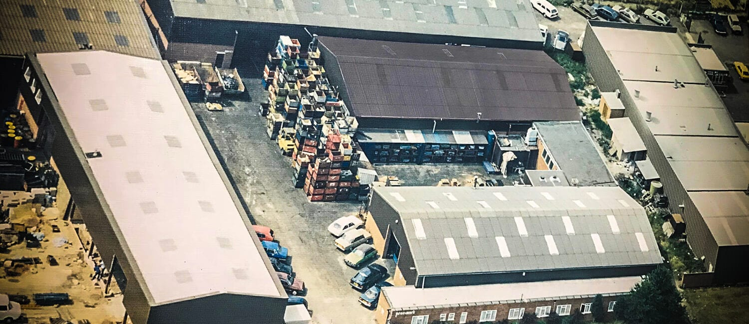aerial view of Pressmark Pressings in 1980